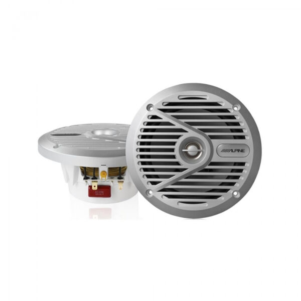 "Alpine SPS-M601 6 1/2"" Coaxial 2-Way Marine Silver Speaker System"