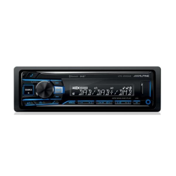 ALPINE UTE-204DAB Digital Media Receiver DAB+ DIGITAL RADIO / BLUETOOTH / AUX / USB / FLAC