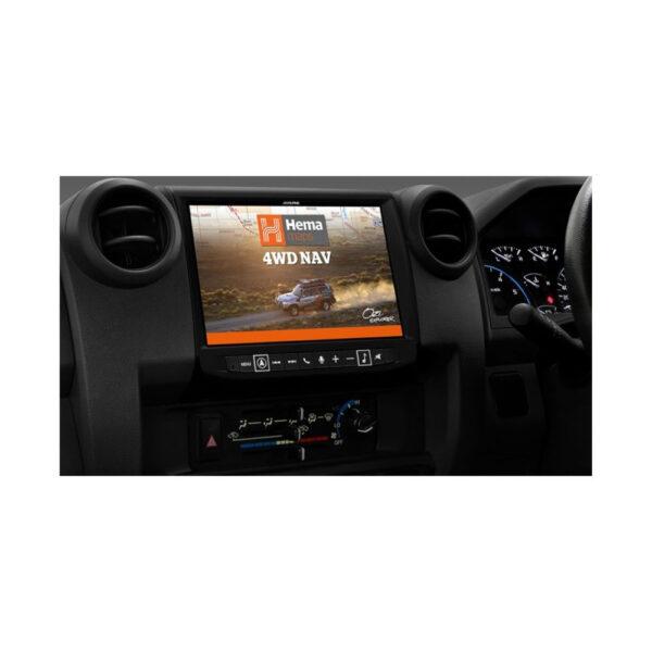 "Alpine Toyota Landcruiser 70 Series LC70-902D 9"" Navigation System with Hema"
