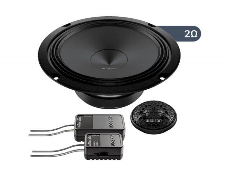 Audison APK 165 Ω2 2 Way 6.5″ Component Kit AP 1 + AP 6.5 Ω2 + Grilles