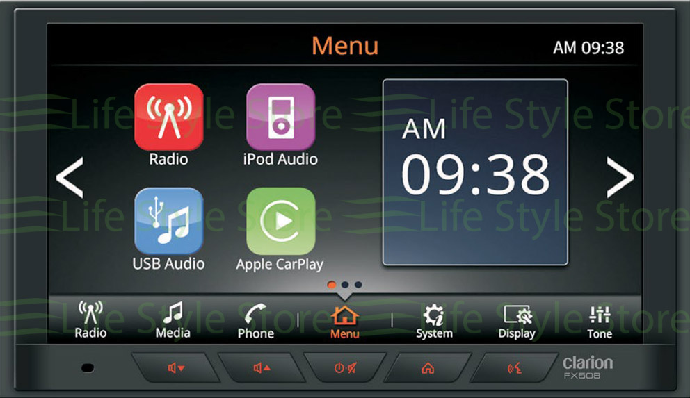 Clarion FX508AU 2-DIN DISPLAY AUDIO WITH APPLE CARPLAY & ANDROID AUTO