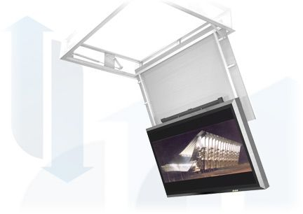 Ultralift Mercury Slim Swing Down TV Lift with Extra Drop