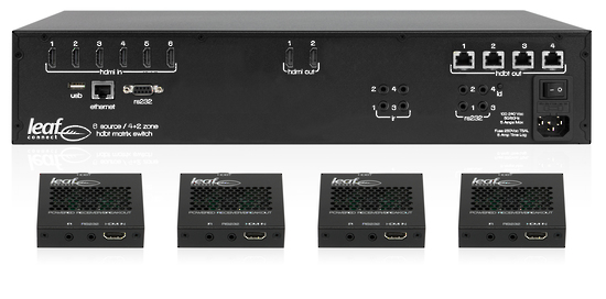 Control4 4K Ultra 6×6 HDMI Matrix Package with 4 HDMI Receivers