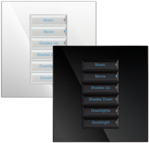 Control4 Wireless 240V Square Configurable Keypad