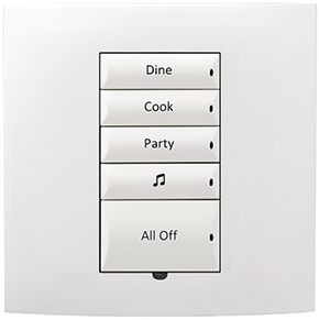 Control4 Square Lighting Switch, 240V (Neutral)