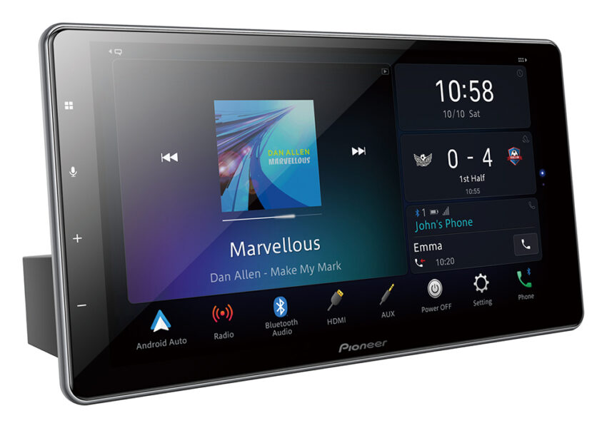 """Pioneer DMH-ZF9350BT 9″ HD Capacitive """"Floating"""" Touch-Screen Apple Car Play