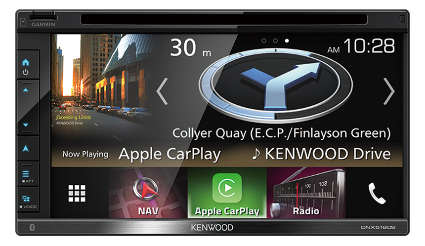 KENWOOD DNX5180S AV Navigation System with 6.8inch WVGA Clear-coated Resistive Display