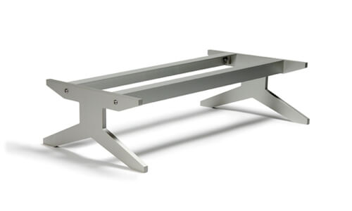 The Unnu base places furniture 19cm from the floor