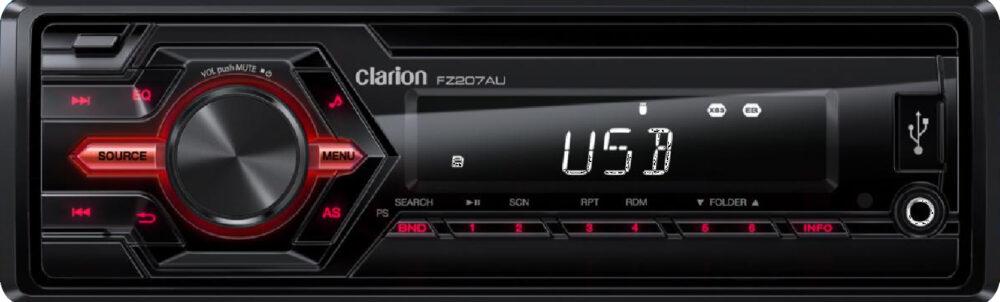 Clarion FZ207AU 2017MY | 1-DIN SHORT-BODY MECHLESS AUDIO RECEIVER