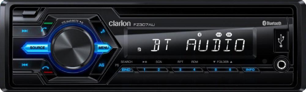 Clarion FZ307AU 2017MY | 1-DIN SHORT-BODY MECHLESS AUDIO BLUETOOTH RECEIVER