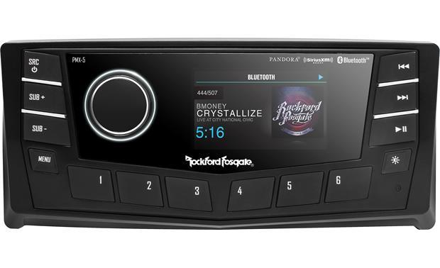 Rockford Fosgate PMX-5CAN Punch Marine AM/FM/WB Digital Media Receiver 2.7″ Display w/ CAN bus.