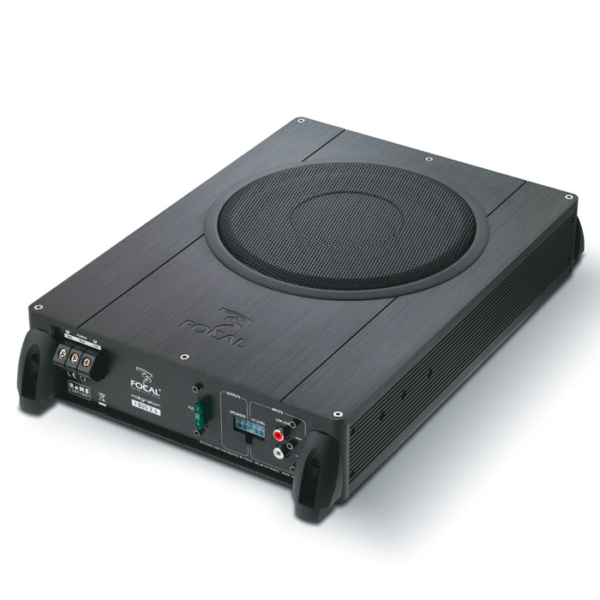 FOCAL IBUS 2.1 Flat ACTIVE UNDER SEAT SUBWOOFER ENCLOSURE WITH 2 CHANNEL AMPLIFIER