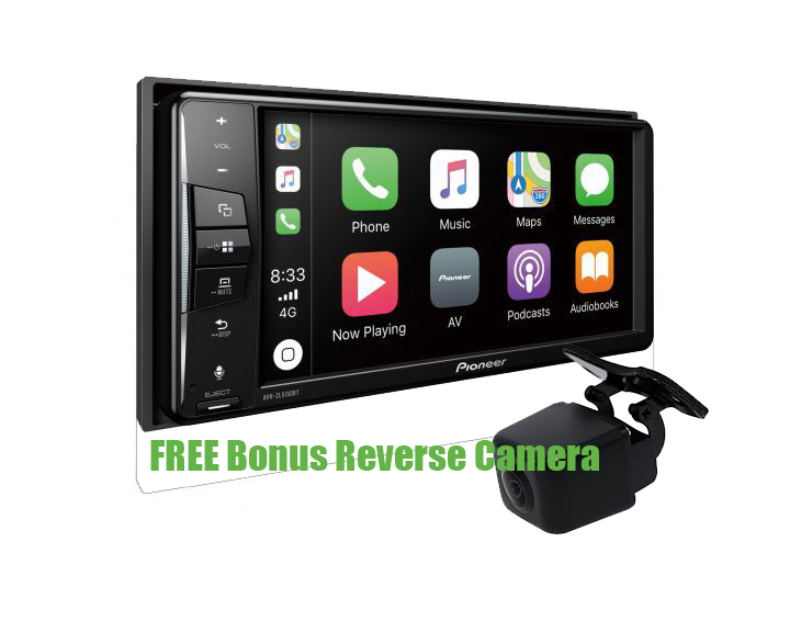 Pioneer AVH-ZL5150BT Touch-screen Player w/ Apple CarPlay, Android Auto & Bluetooth + FREE REVERSE CAMERA