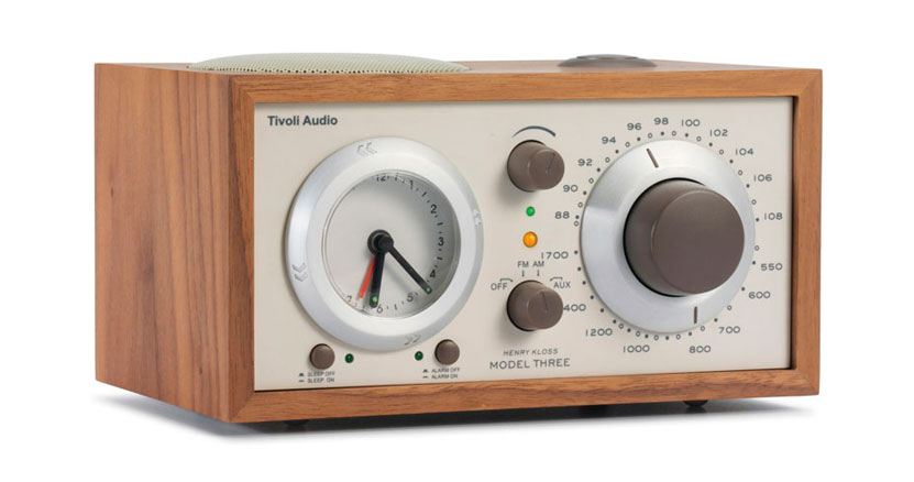 Tivoli Audio Model Three Desktop Clock Radio with Bluetooth