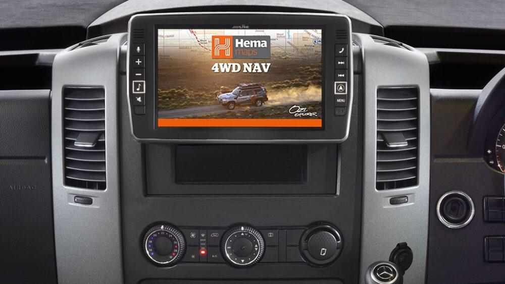 "Alpine Mercedes-Benz Sprinter X902D 9"" Apple CarPlay|Android Auto|Primo 3.0 Navi|HEMA 4WD Maps"