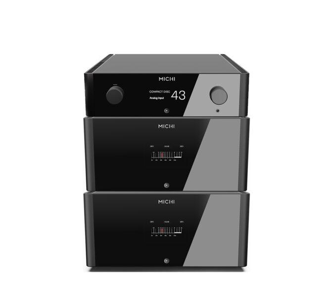 Rotel Michi P5 Pre-amplifier + 2 x M8 Mono Power Amplifiers