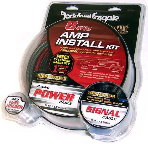 Rockford Fosgate RFK8 8 AWG Power Installation Kit