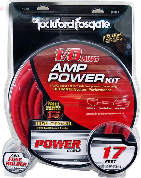 Rockford Fosgate RFK1 1/0 Power Installation Kit