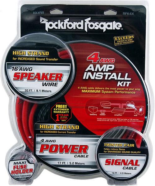 Rockford Fosgate RFK4X 4 AWG Complete Installation Kit