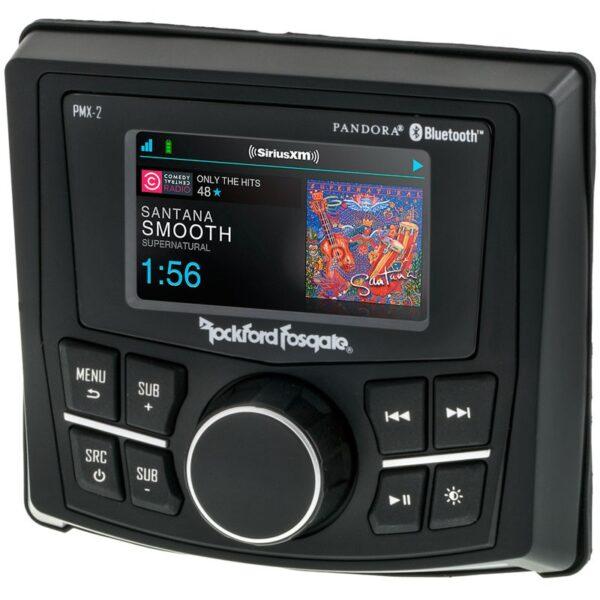 Rockford Fosgate PMX-2 Punch Marine Compact AM/FM/WB Digital Media Receiver 2.7″ Display