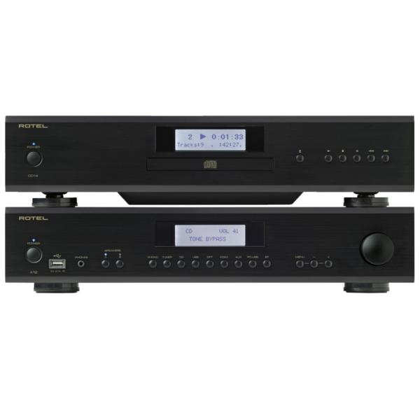 Rotel A12 Integrated Amplifier + Rotel CD14 CD Player Package
