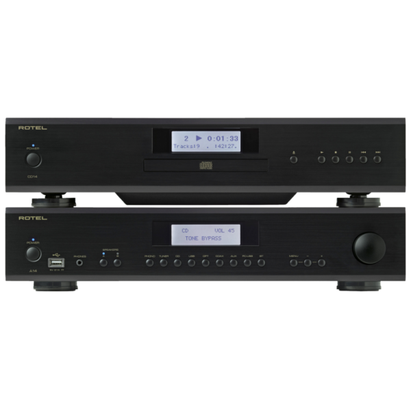 Rotel A14 Integrated Amplifier + Rotel CD14 CD Player Package