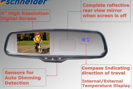 Schneider Mirror Temperature Display