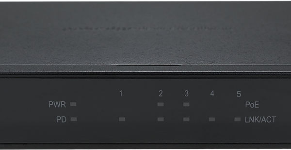Pakedge SE5P2 5 Port Gigabit Network Switch with 2 POE Ports (