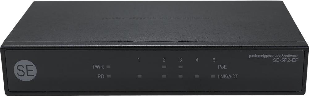 Pakedge SE5P2 5 Port Gigabit Network Switch with 2 POE Ports