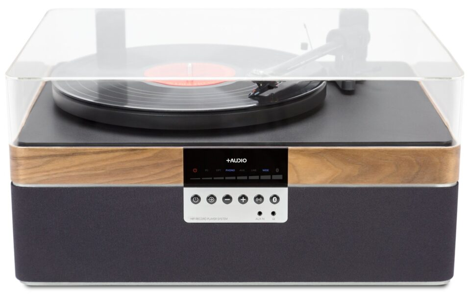 +Audio The +Record Player Turntable with Built-in, High-Performance Stereo Speaker System