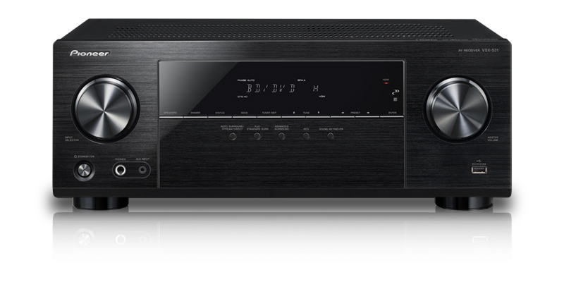 Pioneer VSX-531 5.1-Channel AV Receiver with Built-in Bluetooth