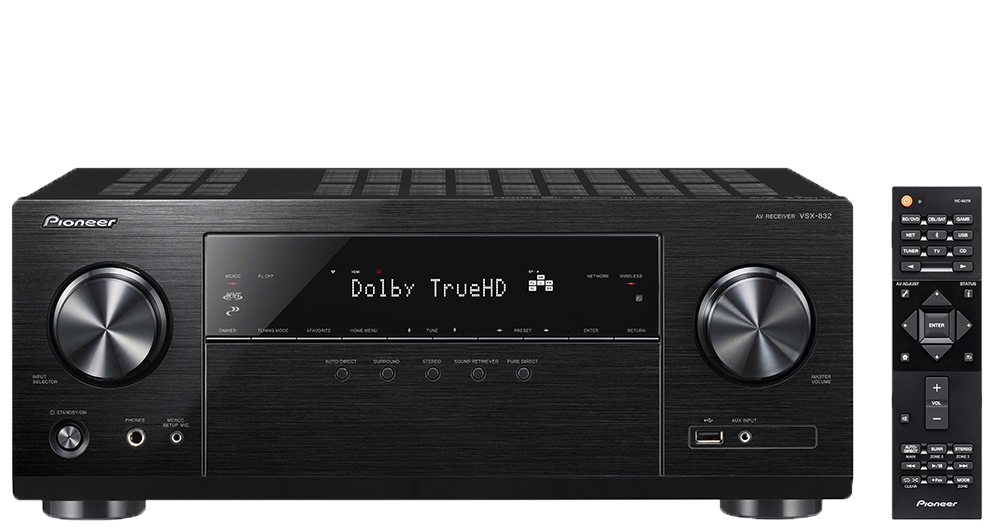 Pioneer VSX-832 5.1-Channel Network AV Receiver with Ultra HD Pass-through