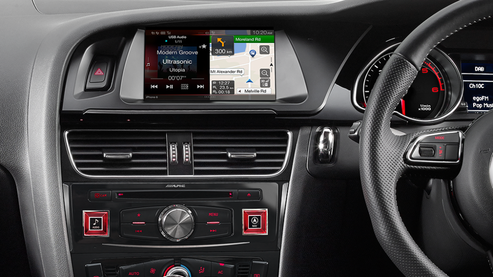 Alpine Audi A4 B8 X702D 7″ Apple Car Play|Android Auto|Primo Navi|USB|Bluetooth|DAB+