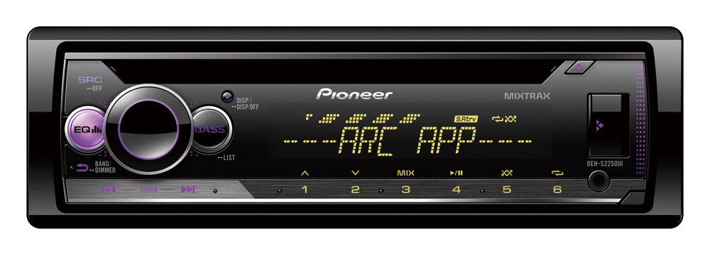 Pioneer DEH-S2250UI Car Stereo Smartphone USB RCA Pre-outs x 2 & Aux-In