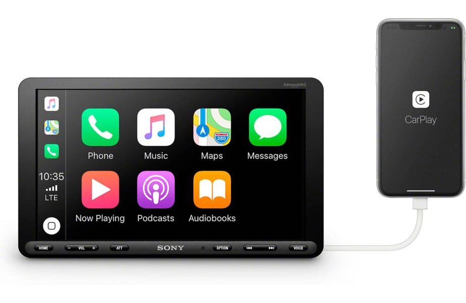 Sony XAV-AX8000 8.95″ (22.7-cm) Media Receiver with Apple CarPlay|Android Auto|Bluetooth