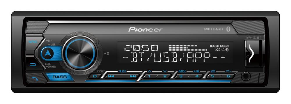 Pioneer MVH-S325BT Multimedia Tuner Dual Bluetooth|Spotify|Smartphone Connectivity|Siri Eyes Free