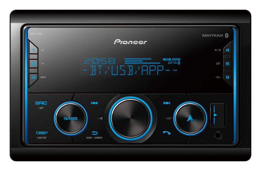 Pioneer MVH-S425BT Multimedia Tuner Dual Bluetooth Spotify Advanced Smartphone Siri Eyes Free