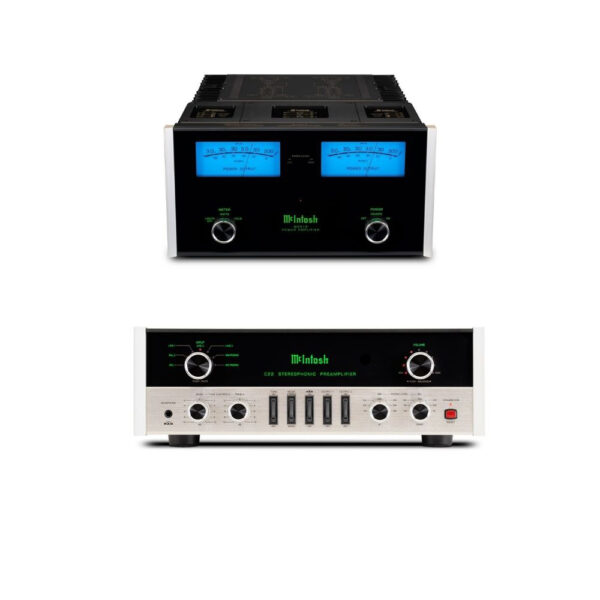 McIntosh C22 MkV Pre-Amplifier + MC312 Power Amplifier