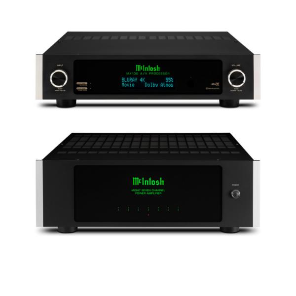 McIntosh MX100 AV Processor and MI347 Power Amplifier – 7 Channels of Power