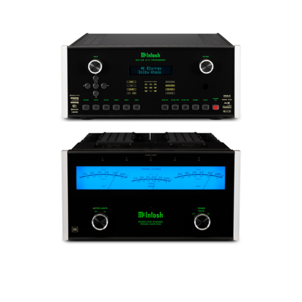 McIntosh MX123 A/V Processor and MC255 – 5 Channels of Power