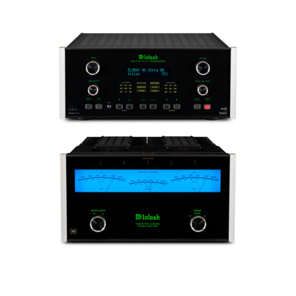 McIntosh MX170 A/V Processor and MC255 – 5 Channels of Power