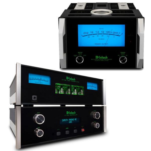 McIntosh C1100 Pre-Amplifier + Dual MC1.25KW Power Amplifiers