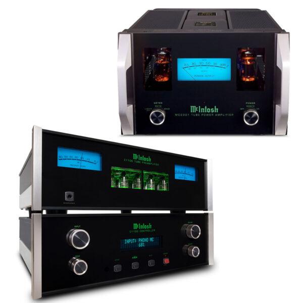 McIntosh C1100 Pre-Amplifier + Dual MC2301 Power Amplifiers