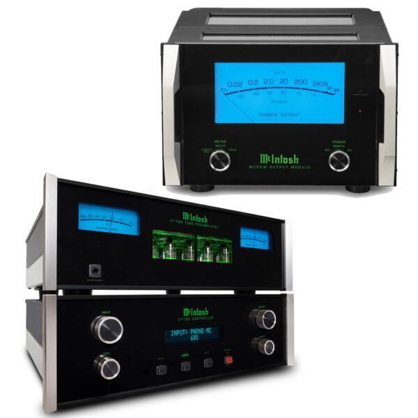 McIntosh C1100 Pre-Amplifier + Dual MC2KW Power Amplifiers