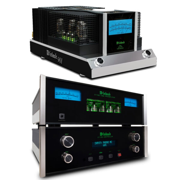 McIntosh C1100 Pre-Amplifier + Dual MC901 Power Amplifiers