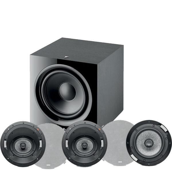 5.1 1000 ICA6 Series Focal In-Ceiling Speaker Package