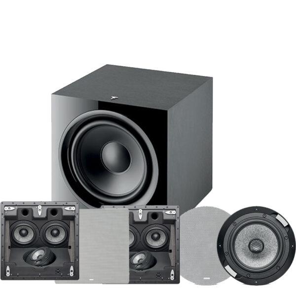 5.1 1000 ICLCR Series Focal In-Ceiling Speaker Package