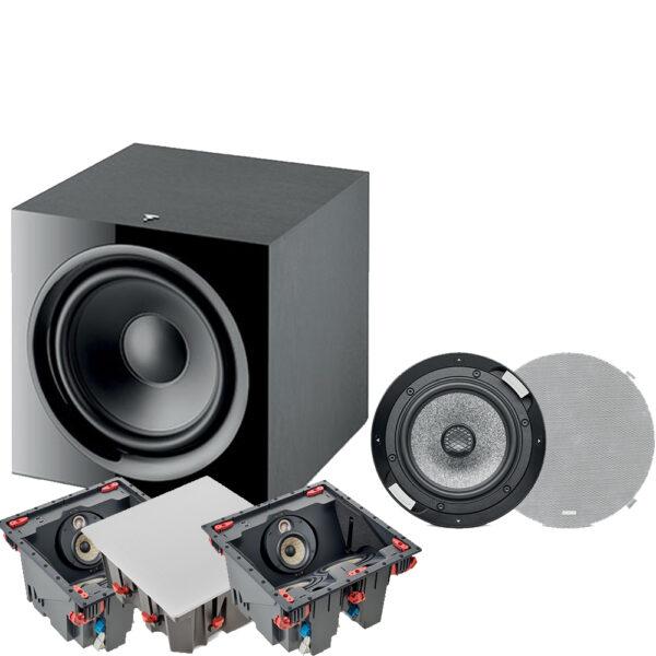 5.1 300 ICLCR Series Focal In-Ceiling Speaker Package