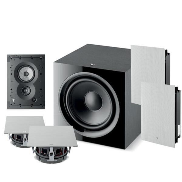 5.1 1000 Series Focal In-Wall Speaker Package