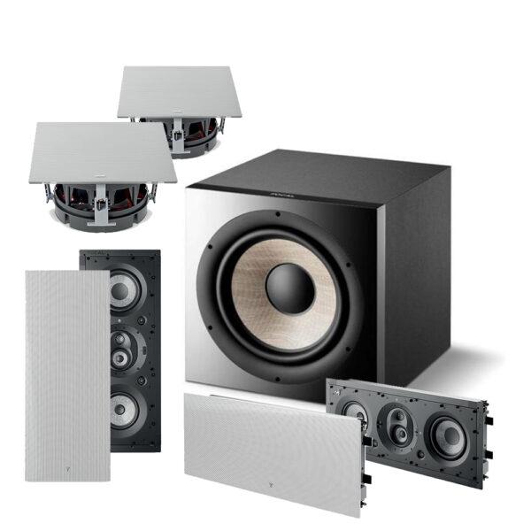 5.1 1000 Series Focal IWLCR6 In-Wall Speaker Package